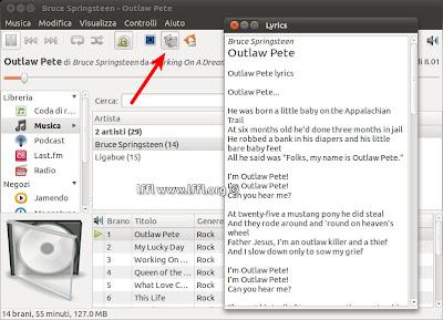 Rhythmbox alllyrics plugin per visualizzare il testo for Disegno una finestra testo